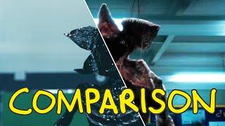 Stranger Things Demogorgon Scene - Homemade Side by Side Comparison