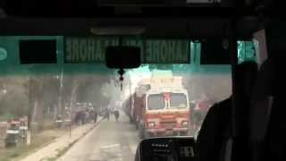 crossing the wagha border from pakistan side by bus