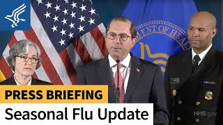 HHS Secretary Azar and top public health officials give flu activity update