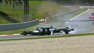 F1: Chocaron los Mercedes en la primera vuelta del GP de España y ganó el debutante Verstappen
