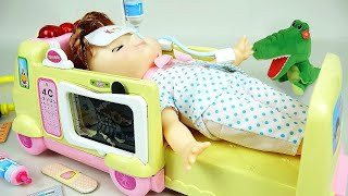 Ambulance baby doll Doctor toys