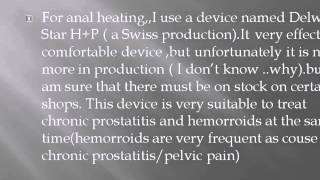 CHRONIC PROSTATITIS,NEW ANAL/RECTAL TREATMENT