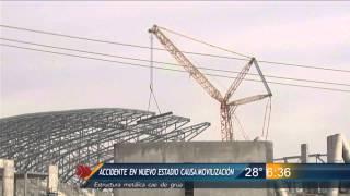 Las Noticias - Accidente en nuevo estadio de Rayados causa movilización