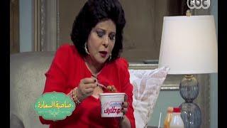 #صاحبة_السعادة | شاهد .. إسعاد يونس تتناول كشري أبو طارق على الهواء
