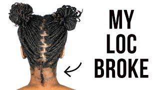 BRAIDLOCS: MY LOC BROKE! / 4 MONTHS (A FAIRYTALE?)