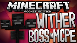 WITHER BOSS IN MCPE!!! - Wither Mod For Minecraft PE - Minecraft Pocket Edition