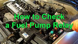 How to Check a Fuel Pump Relay in car