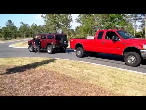 Ford f350 .vs. Hummer