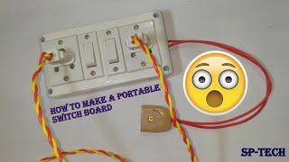 How To Make A Electric Switch Board Or Extension Box At Home