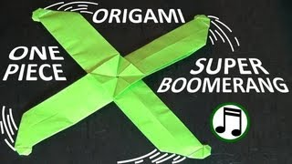 One-Piece Origami Super Boomerang