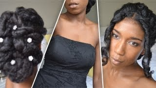 Classic Prom and Wedding Updo   Natural Hair