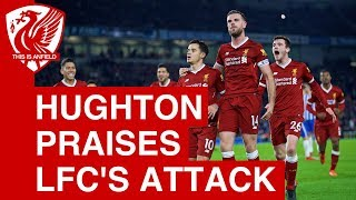 Chris Hughton praises Liverpool's attack: They are right up there with Man City