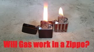 Will gasoline work in a Zippo lighter?