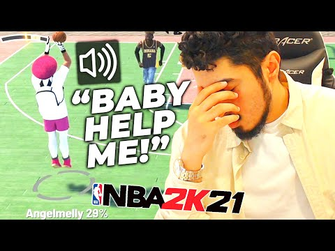 I tried carrying my girlfriend to wins in NBA 2K21 HILARIOUS