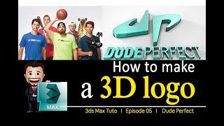 Making the 3D logo of Dude Perfect - Ask Thalis Productions