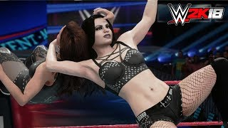 WWE 2K18 - Gameplay PS4 Pro / Xbox One Paige vs Stephanie McMahon Extreme Rules Main Event
