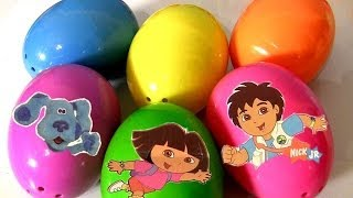 Nickelodeon Surprise Eggs Diego Backyardigans Blue's Clues Dora the Explorer Go,Diego,Go!
