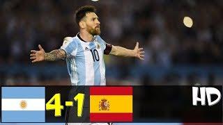 Argentina VS Spain  4-1   All Goals & Extended Highlights RÉSUMÉ & GOLES ( Last Match ) HD