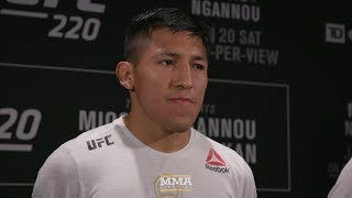 UFC 220: Enrique Barzola would Love to Fight Ricardo Lamas in the Future – MMA Fighting