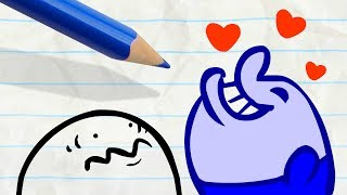 """Pencilmate Kissed by a Fish! -in- """"Bait and Switch"""" Pencilmation Cartoons"""