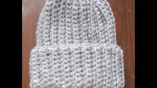 Download Crochet Ribbed Hat 3Gp Mp4