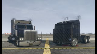GTA 5 Durability Test (Phantom Custom vs Hauler Custom With and Without MOC Trailer)