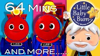 Train Song | Plus Lots More Nursery Rhymes | 64 Minutes Compilation from LittleBabyBum!