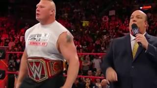 The Shield attacks Brock Lesnar: Raw, Oct. 16, 2017