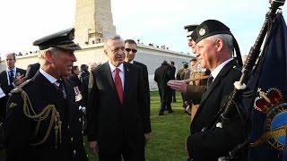 Cumhurbaşkanı Erdoğan, İngiliz Anıtı'ndaki Törene Katıldı  24.04.2015