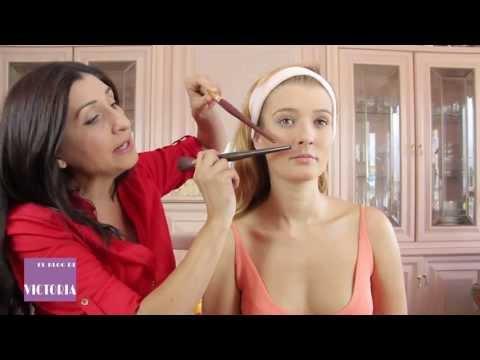 Maquillaje de visagismo: Situación perfecta del colorete y sus tres partes.