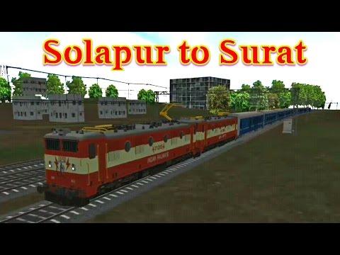 Solapur to Surat with WAM4 double heading | indain train simulator
