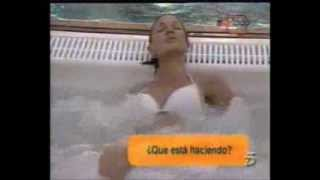 mature woman getting pleasure and touching herself in the bath