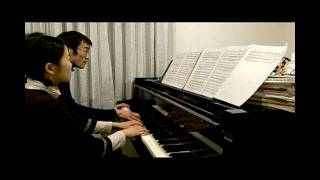 「X JAPAN Kurenai」piano for 4 hands