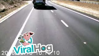 Sparks Fly as Truck Almost Rolls || ViralHog