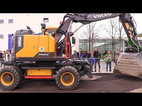 The New Volvo EWR150E Wheelexcavator With Tiltrotator @ Bauma 2016