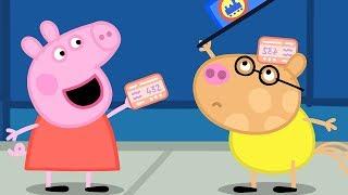 Peppa Pig Świnka Peppa Bajka po Polsku   Podróż Pociągiem   Całe Odcinki