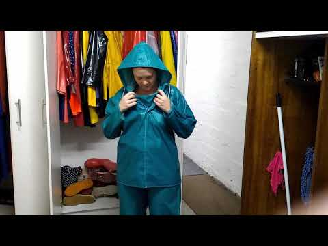 Trying out some of my rainwear