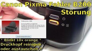Canon Pixma B200 Error - Fehler beheben FIX - [English subtitles]
