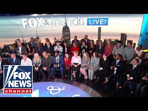Fox & Friends hosts its first show in front of a live studio audience