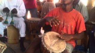 Ebu-Manneh's drum factory, Gambia 2014