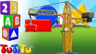 TuTiTu Preschool | Learning Shapes for Babies and Toddlers | Crane