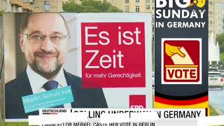 Polling Underway in Germany: Chancellor Angela Merkel casts vote in Berlin