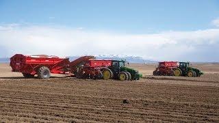 24row Potato Planting with John Deere 8360RT, Spud