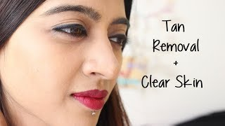 Hindi -  How to Remove Tan from Face & Body + Clear Skin | SuperWowStyle Prachi