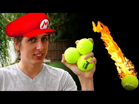 Real life Mario Fireballs SMS 1