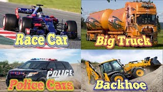 Transport and Vehicles for Children Lean Street Vehicles Names and Sounds for Kids | Cars and Trucks