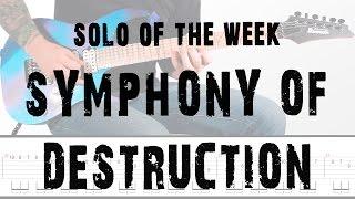 Solo Of The Week: 12 Megadeth - Symphony of Destruction tab
