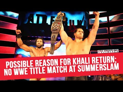 Possible Reason For The Great Khali's Return; Jinder Not Defending The WWE Title At SummerSlam