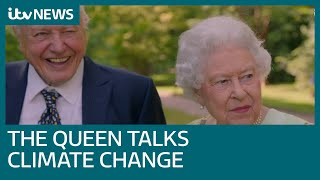 Queen shows funny side in conversation with Sir David Attenborough for ITV documentary | ITV News