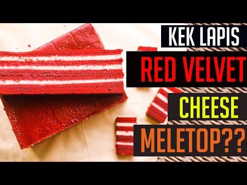 FULL Cara membuat Kek Lapis Red Velvet Versi Bahasa Malaysia